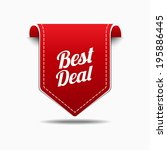 best deal red label icon vector ... | Shutterstock .eps vector #195886445