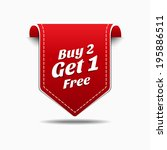 buy 2 get 1 red label icon... | Shutterstock .eps vector #195886511