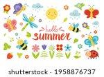 big set with cute cartoon... | Shutterstock .eps vector #1958876737