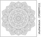 mandala circle pattern....   Shutterstock .eps vector #1958899111