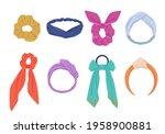 elegant hair ties and hoops set.... | Shutterstock .eps vector #1958900881