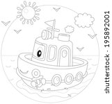 toy ship  | Shutterstock .eps vector #195892001