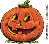 a smiling  friendly jack 'o... | Shutterstock .eps vector #195893087
