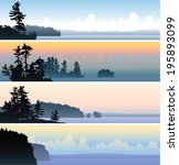 a set of four scenic banner... | Shutterstock .eps vector #195893099