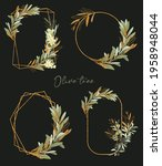 collection of gold frames with... | Shutterstock . vector #1958948044