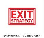 corona virus exit grunge stamp...   Shutterstock .eps vector #1958977354