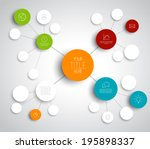 vector abstract mind map... | Shutterstock .eps vector #195898337