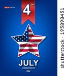 happy 4th of july independence... | Shutterstock .eps vector #195898451