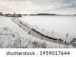 Curved Ditch Through A Dutch...