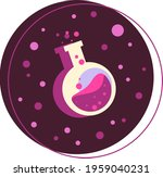 color illustration of a potion. ... | Shutterstock .eps vector #1959040231