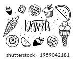 desserts frame. frame with...   Shutterstock .eps vector #1959042181