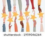 customer feedback concept.... | Shutterstock .eps vector #1959046264