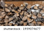 A Stack Of Firewood  Close Up....