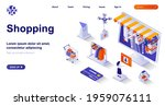 shopping isometric landing page.... | Shutterstock .eps vector #1959076111