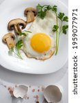 Fried Eggs Mushrooms And...