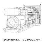 large industrial diesel... | Shutterstock .eps vector #1959092794