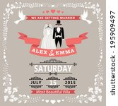 wedding invitation design... | Shutterstock .eps vector #195909497