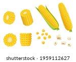 cartoon pieces of corn vector... | Shutterstock .eps vector #1959112627
