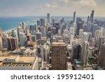 chicago skyline | Shutterstock . vector #195912401