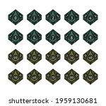 d10 dice for boardgames ... | Shutterstock .eps vector #1959130681