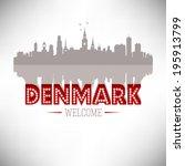 Denmark greeting card vector design.