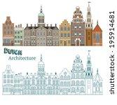design of cityscape in...   Shutterstock .eps vector #195914681