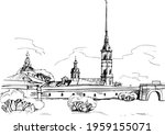 peter and paul fortress. symbol ... | Shutterstock .eps vector #1959155071