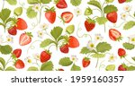 strawberry background with...   Shutterstock .eps vector #1959160357