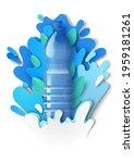 realistic drink water plastic... | Shutterstock .eps vector #1959181261