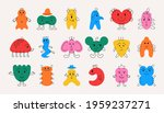 doodle monsters. hand drawn... | Shutterstock .eps vector #1959237271