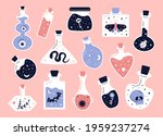 doodle witchcraft. love potions ... | Shutterstock .eps vector #1959237274