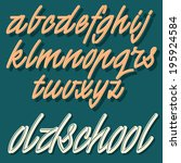 vector decorative font. vintage ... | Shutterstock .eps vector #195924584