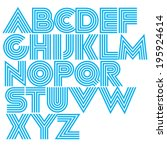 vector decorative geometric... | Shutterstock .eps vector #195924614