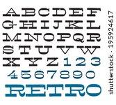 vector decorative font. vintage ... | Shutterstock .eps vector #195924617