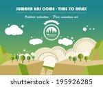 landscape nature background in... | Shutterstock .eps vector #195926285