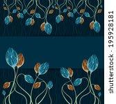 floral frame. template frame... | Shutterstock . vector #195928181