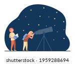 schoolchildren watching and...   Shutterstock .eps vector #1959288694
