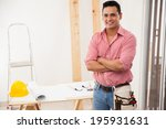 portrait of an attractive young ... | Shutterstock . vector #195931631