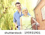 a picture of a young couple... | Shutterstock . vector #195931901