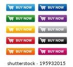 buy now buttons | Shutterstock .eps vector #195932015