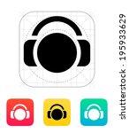 user with headphones icon....