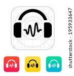 headphones with soundwave icon. ...