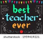 best teacher ever school...   Shutterstock .eps vector #1959419221