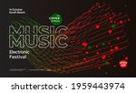 electro music fest poster with... | Shutterstock .eps vector #1959443974