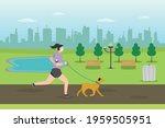 jogging vector concept. woman... | Shutterstock .eps vector #1959505951