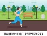 jogging vector concept.... | Shutterstock .eps vector #1959506011