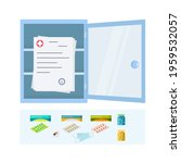 open medicine chest and doctor... | Shutterstock .eps vector #1959532057