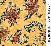 seamless digital textile floral ... | Shutterstock .eps vector #1959568837