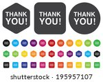 thank you icon | Shutterstock . vector #195957107