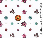 abstract floral pattern design...   Shutterstock . vector #1959578404